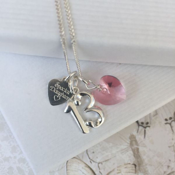 13th birthday silver jewellery gift for a daughter